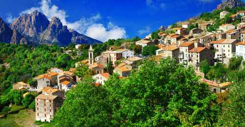 breathtaking landscapes of Corsica - view of Evisa vilage